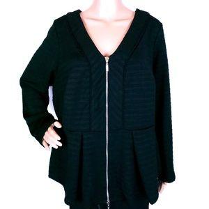 Bisou Bisou Women Top Cardigan Full Zip Size XL